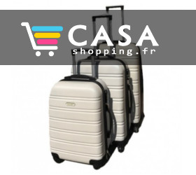 Lot de 3 valises rigides pas cher sur Casa Shopping